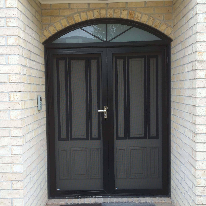 Crimsafe regular double security door the superior door for Double security doors