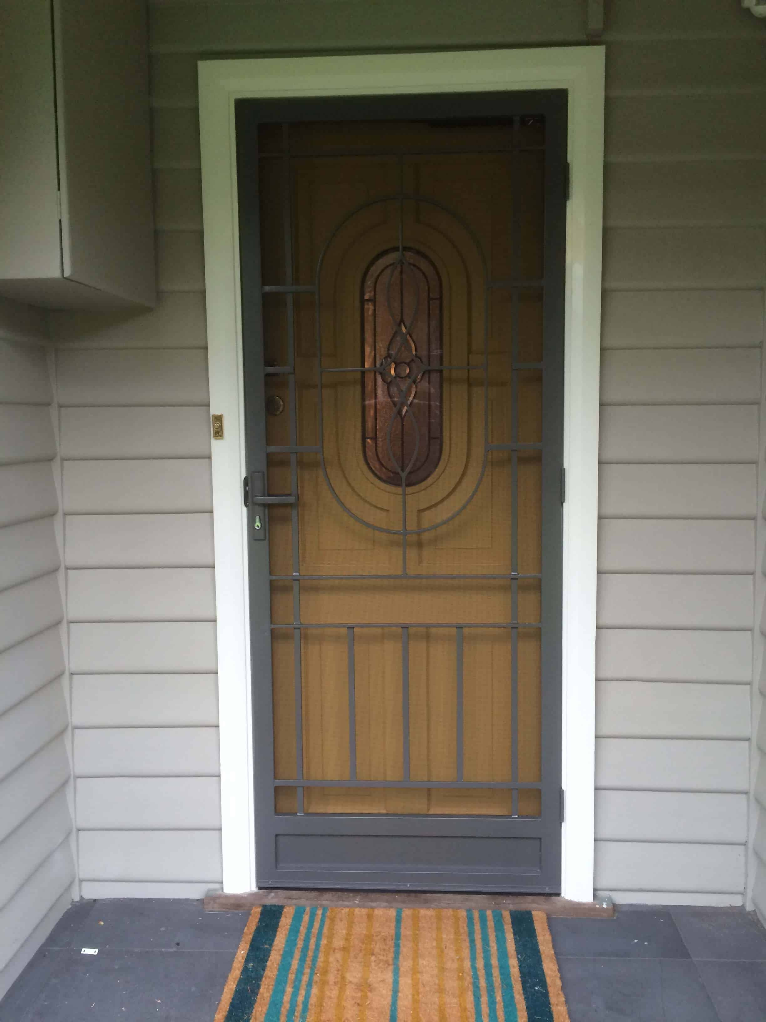 Classic Oval Style Security Door Steel Doors Melbourne